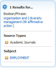 Academic Search Limiters