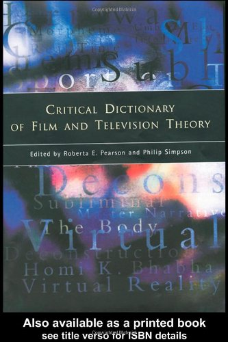 cover of the critical dictionary of film and television theory