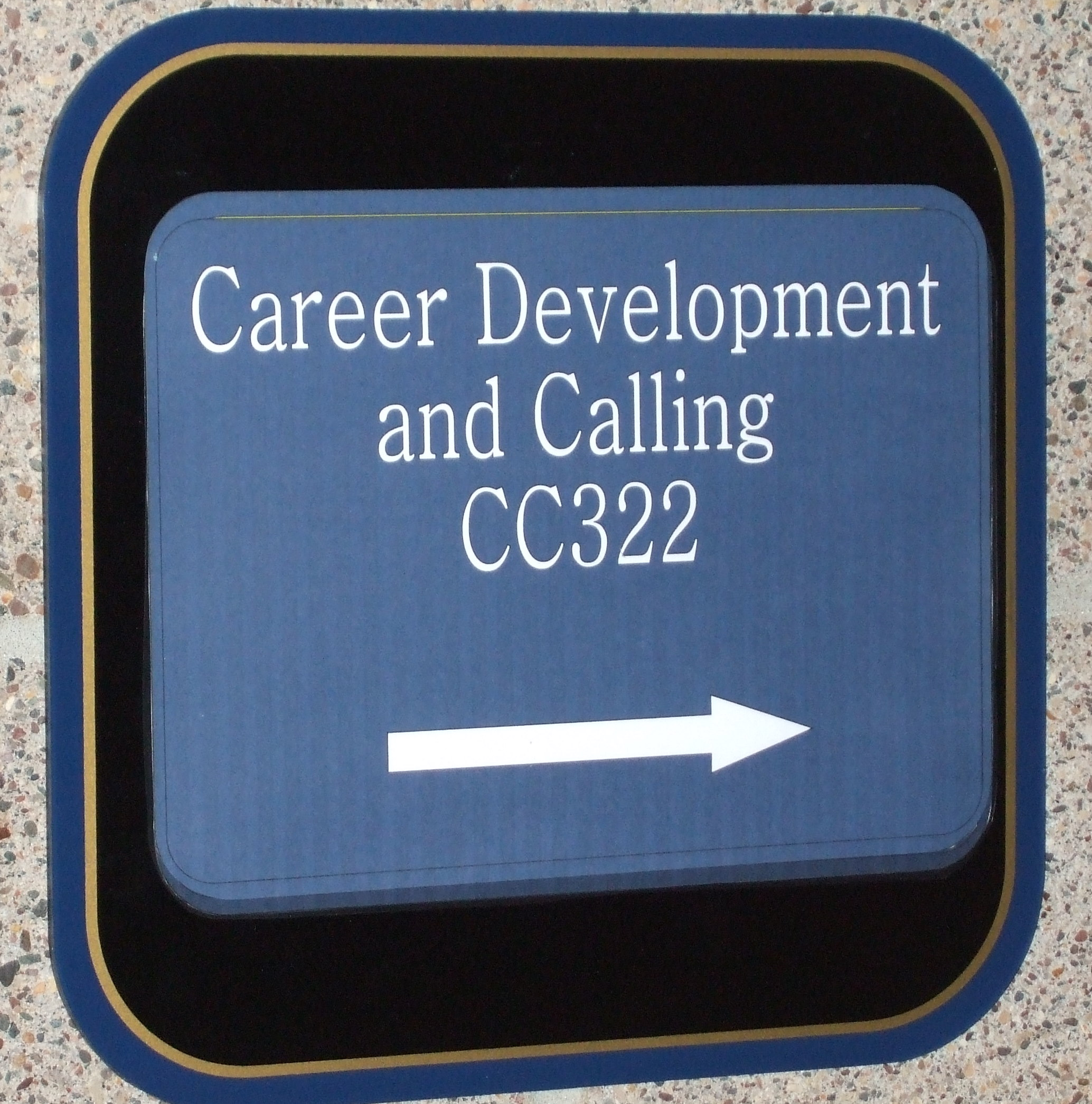 sign outside career development and calling door