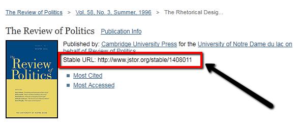 JSTOR Stable URL