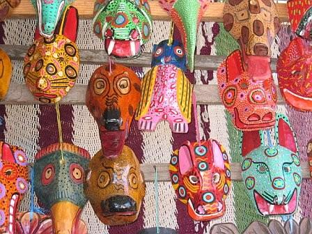 Guatemalan masks photo