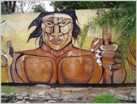 Argentine wall mural