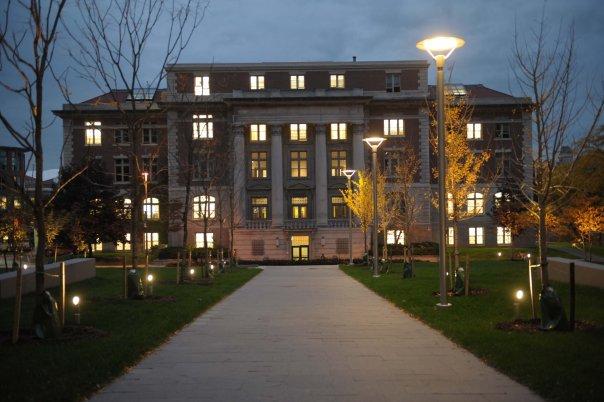 Slocum Hall at night