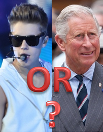 Justin Bieber and Prince Charles