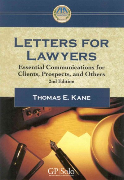 Cover of Letters for Lawyers