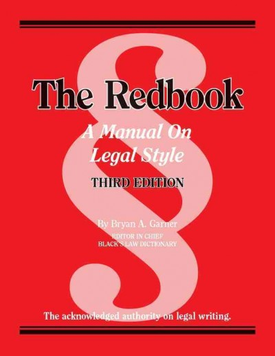 Cover of Garner's The Redbook