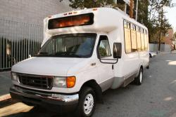 Photo of Loyola's shuttle van