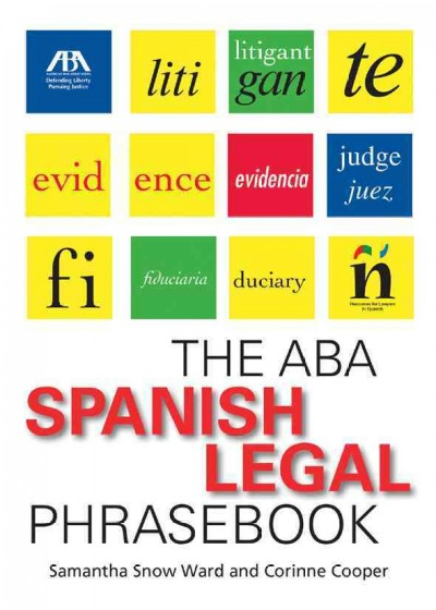 Cover of The ABA Spanish legal phrasebook