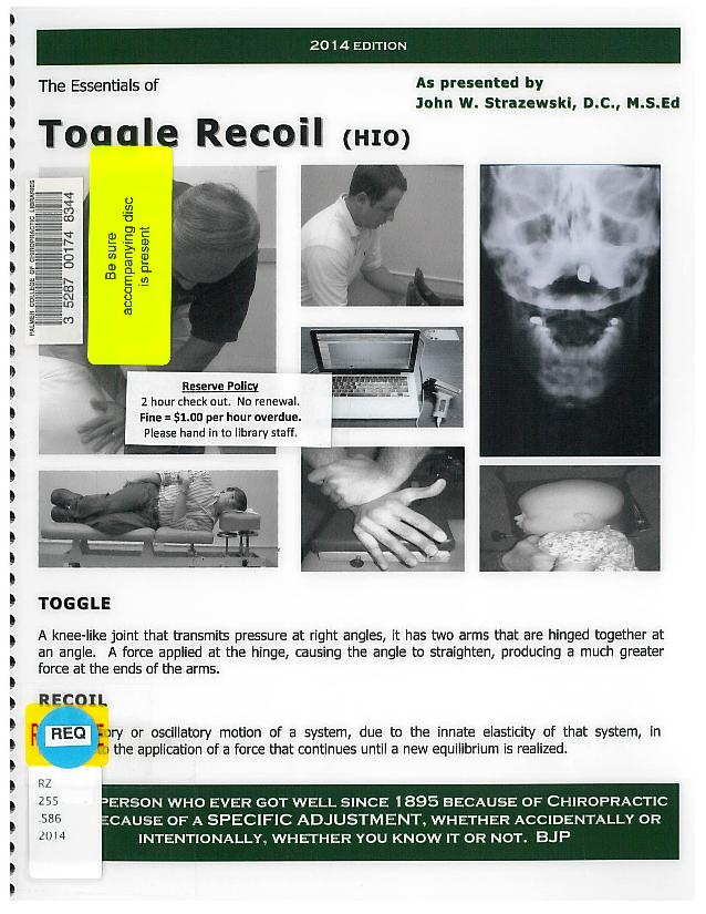 Essentials of toggle recoil (HIO)