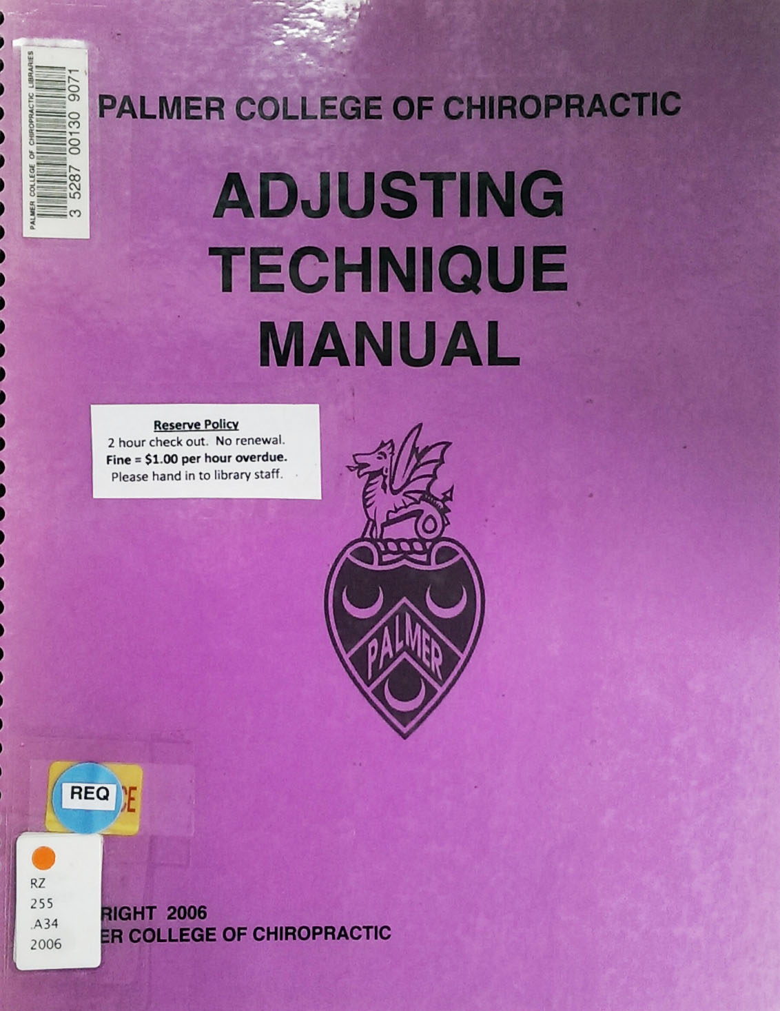 Adjusting technique manual