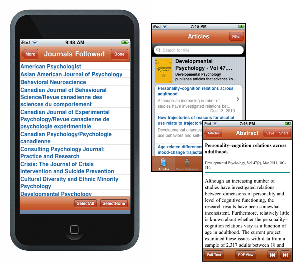 APA App on an iPhone