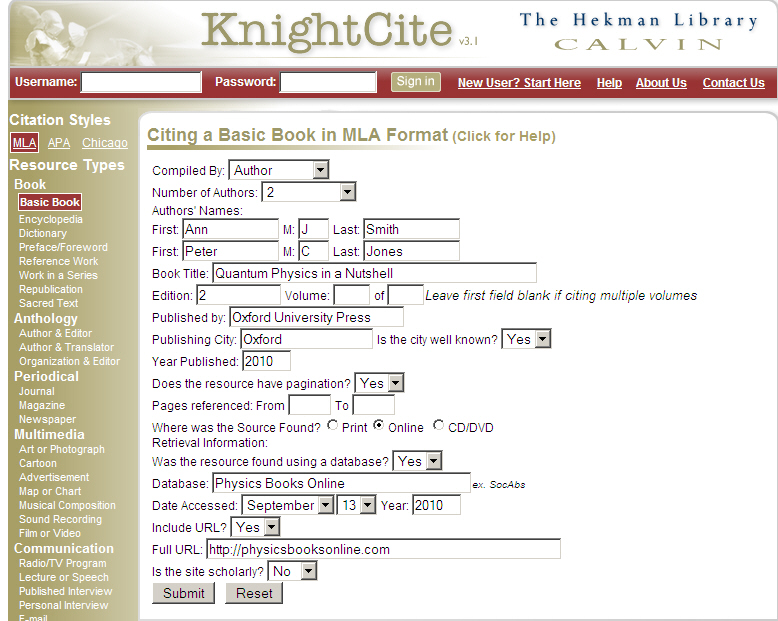 KnightCite Screenshot