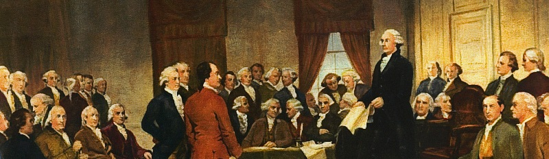 Painting of the Constitutional Convention, showing various political figures