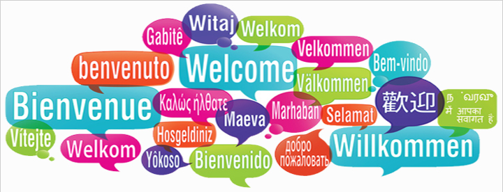 Welcome! in many languages