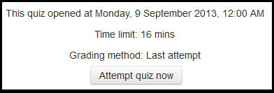 summary of quiz and instructions