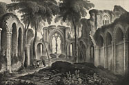 Engraving of Netley Abbey
