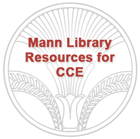 Mann library logo:  Mann Library Resources for CCE