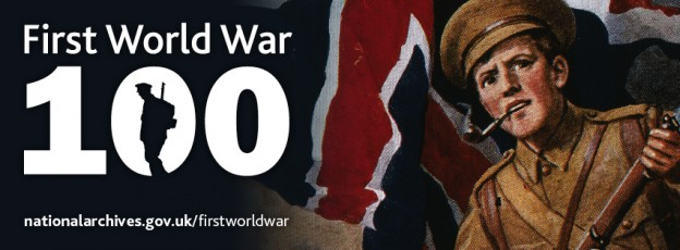 Screenshot from The National Archive First World War 100 webpage