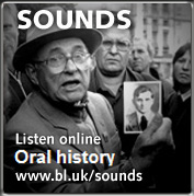 Screenshot from the British Library's Oral history webpage