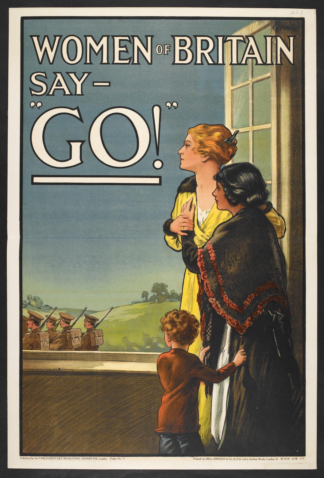 British recruitment poster 'Women of Britain say 'Go!''