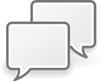 Public opinion speech bubble image