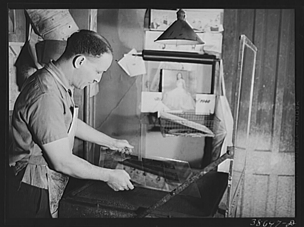 Photoengraver at The Chicago Defender in 1941