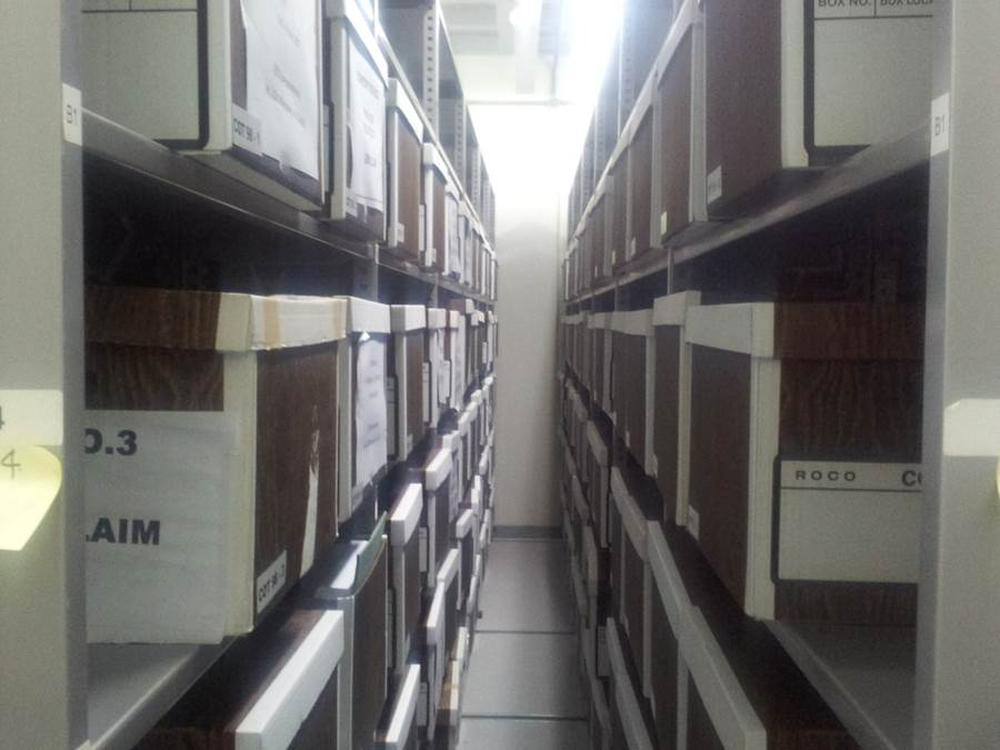 Archives row with boxes