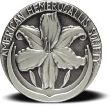 Silver medal with lily from American Hemerocallis Society