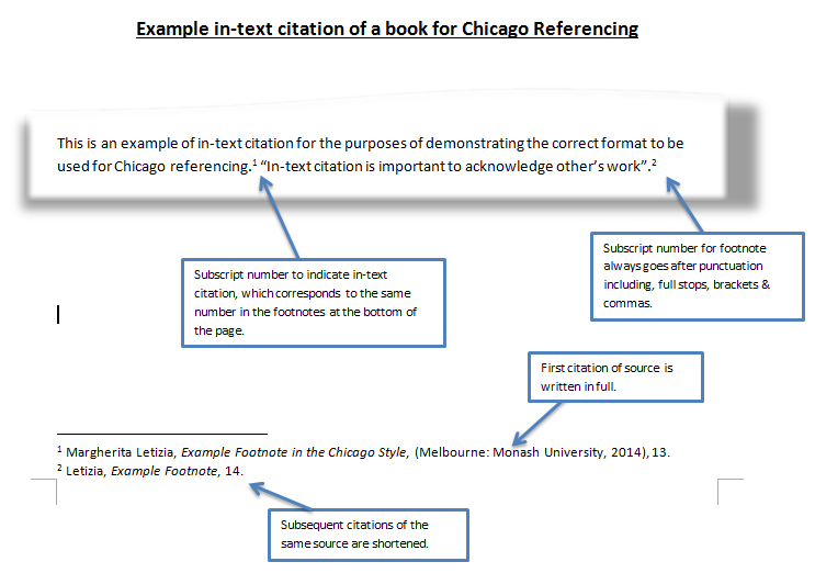 In-text Citation Chicago Style