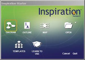 Inspiration main menu