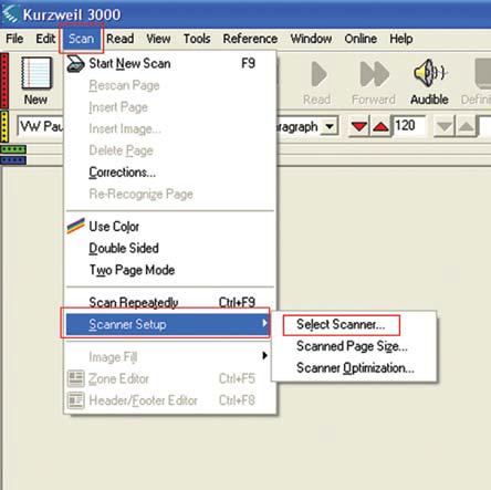Kurzweil scanning