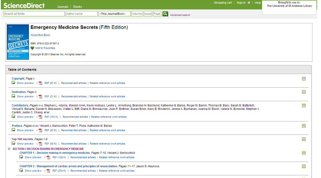 Picture of search results screen