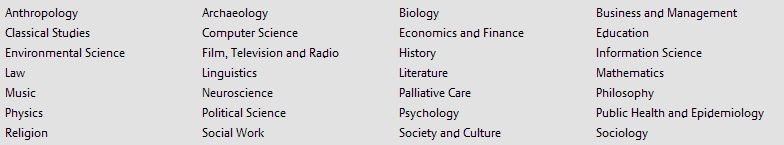 Picture of subject areas