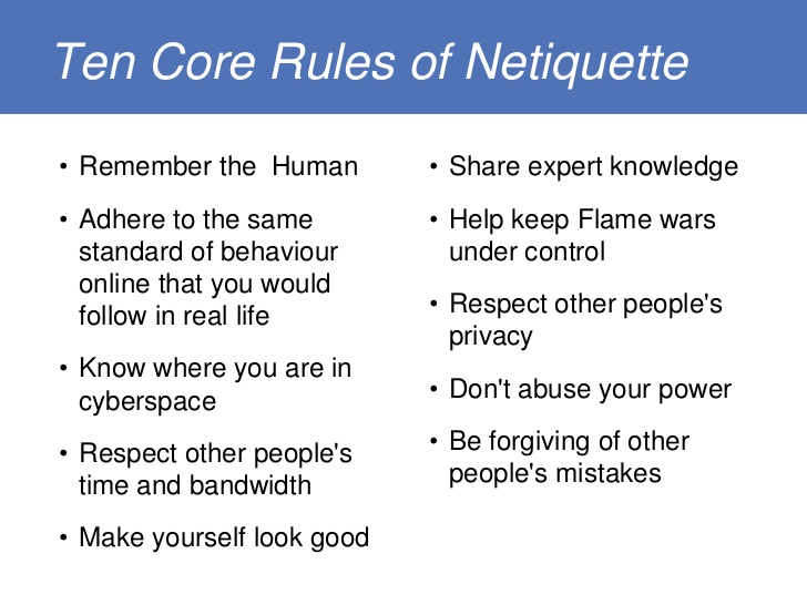 10 Rules of Netiquette
