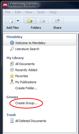 Mendeley Group Creation