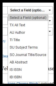 fields in adv search