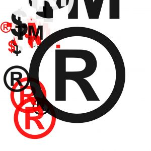 Abstract copyright symbols