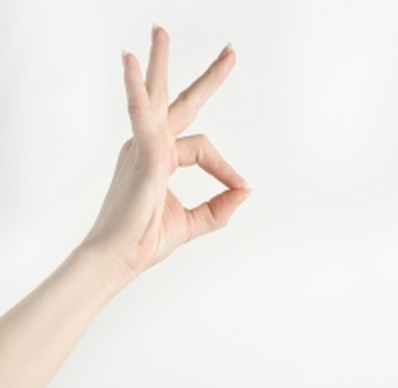 Hand giving the sign for OK!