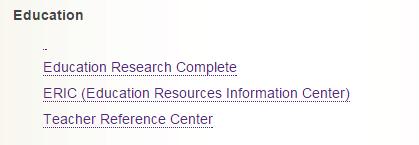 education databases