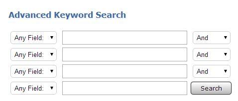 OPAL advanced search box