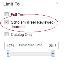 A typical peer review limit for a database