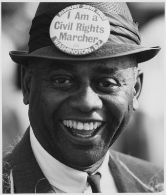 Marcher at the 1963 March on Washington