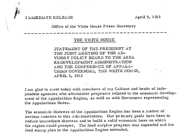 press release - april 9, 1963