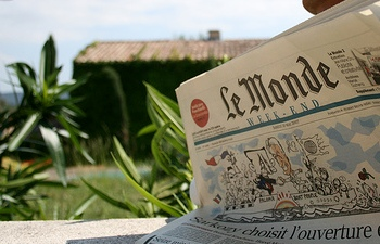 Modern issue of La Monde Newspaper