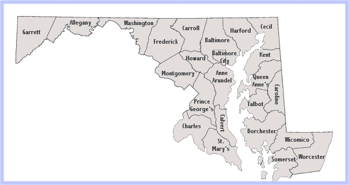 Maryland Libraries - Interactive Map
