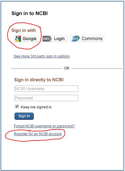 registration screen
