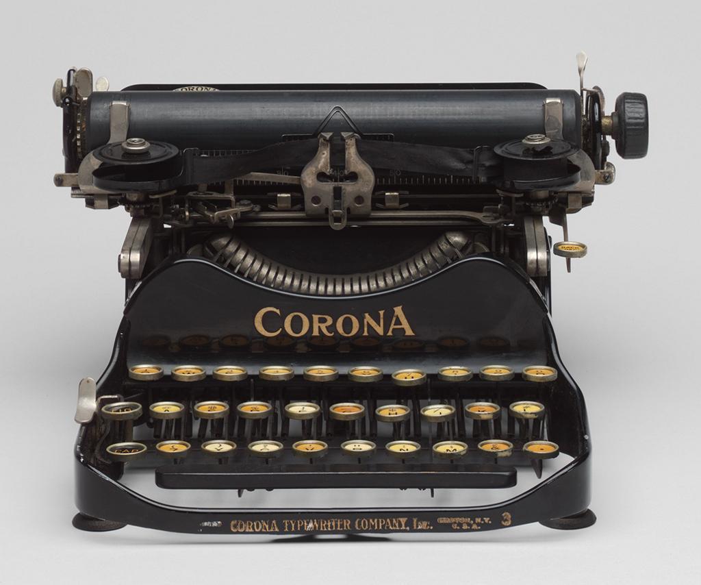 Cornona Typewriter no. 3 1912, Courtesy of ArtStor