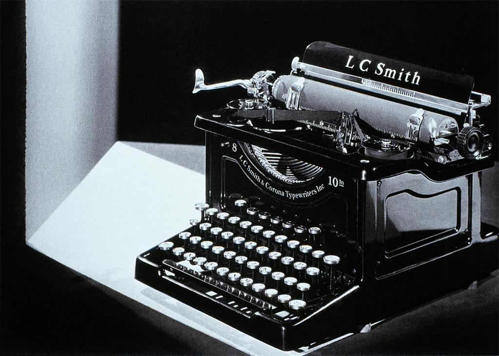 L.C. Smith Typewriter by Charles Sheeler 1924-8 Courtesy of ArtStor