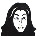 Cartoon image of Marjane Satrapi Courtesy of Smith Collete