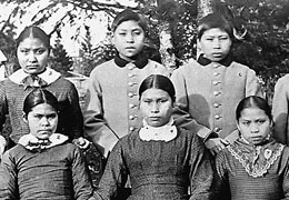 Spokane Indian Children circa 1882